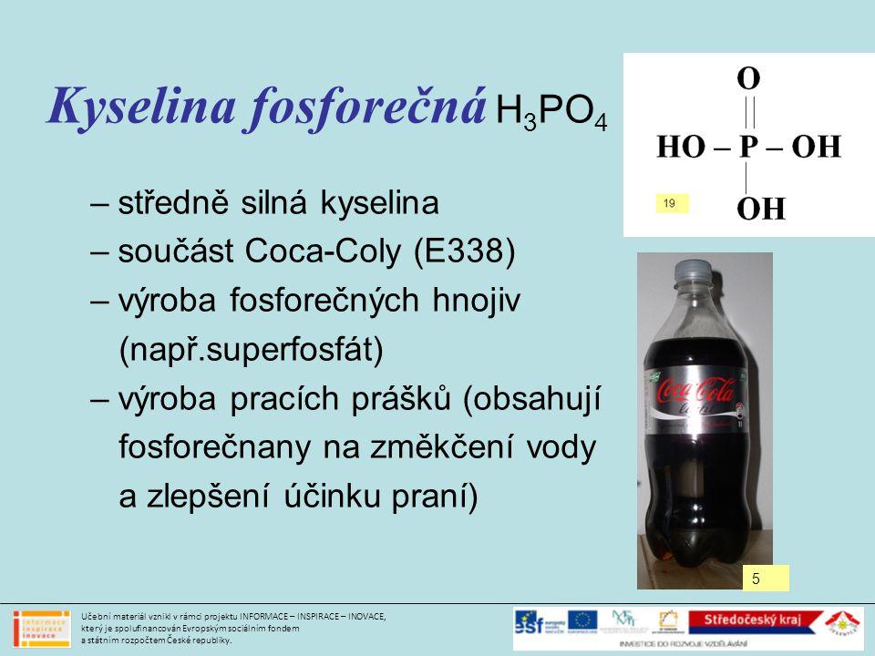 Kyselina fosforečná H3PO4