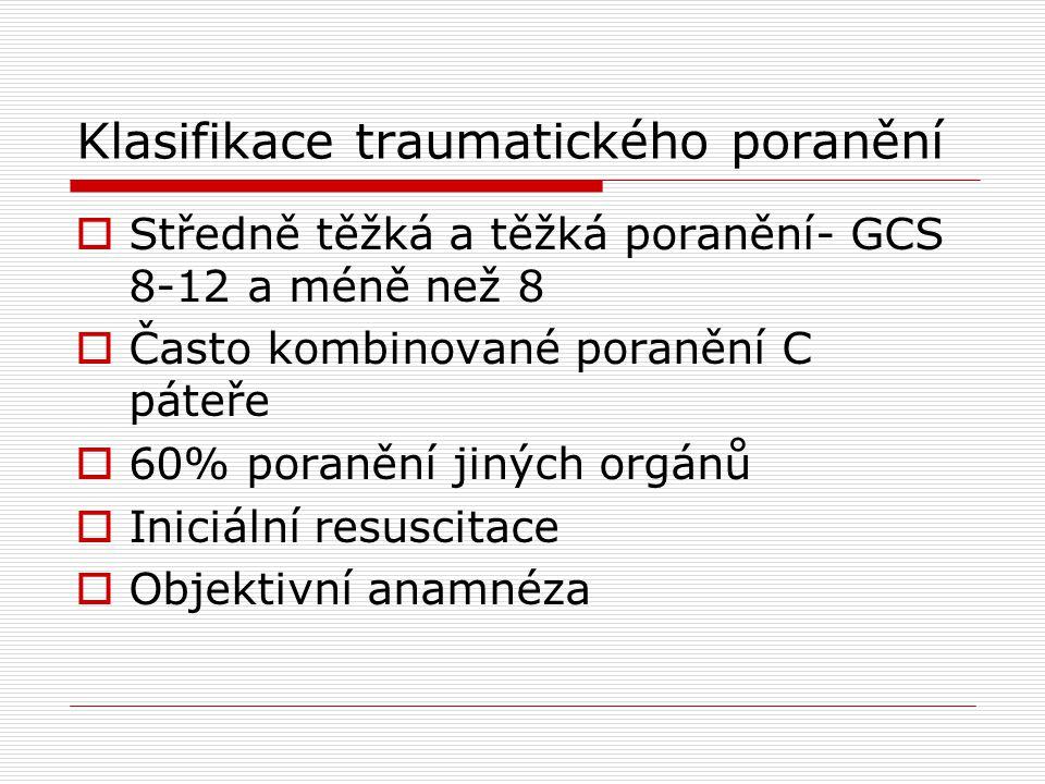 Klasifikace traumatického poranění