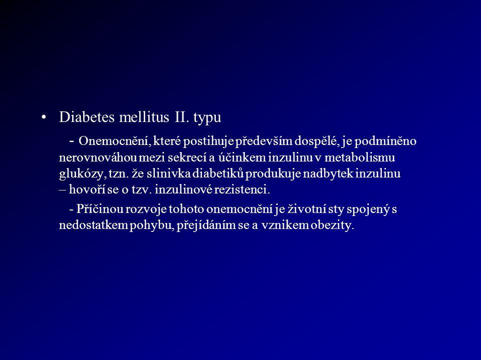 Diabetes mellitus II. typu