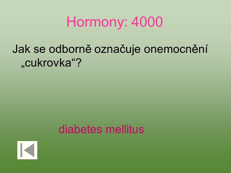 """Hormony: 4000 Jak se odborně označuje onemocnění """"cukrovka"""