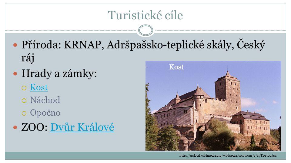 Turistické cíle Příroda: KRNAP, Adršpašsko-teplické skály, Český ráj