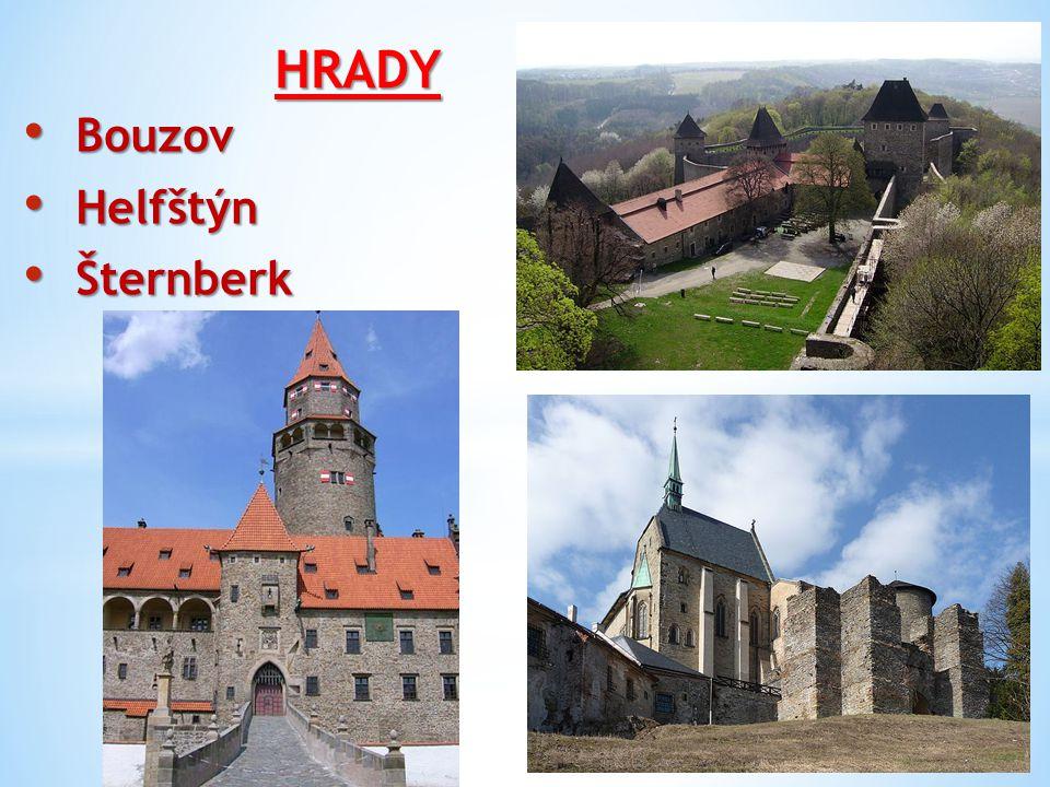 HRADY Bouzov Helfštýn Šternberk