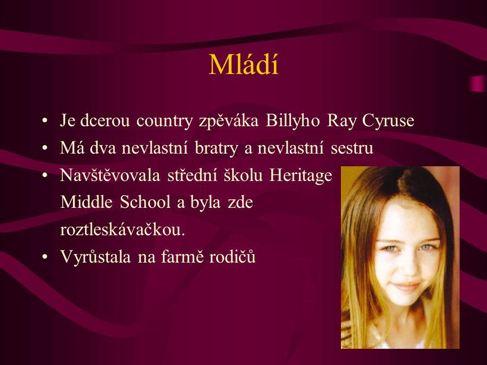 Mládí Je dcerou country zpěváka Billyho Ray Cyruse