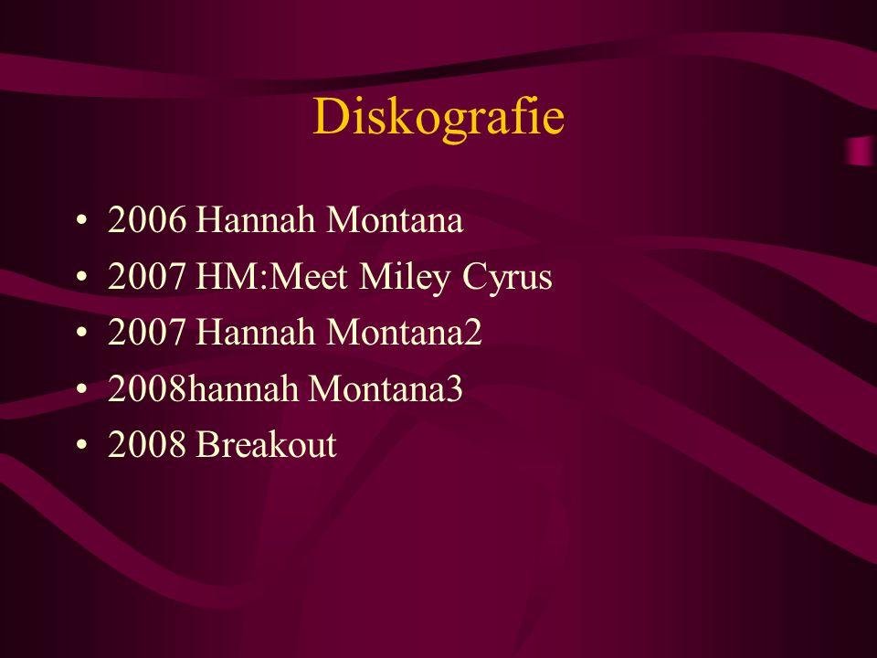 Diskografie 2006 Hannah Montana 2007 HM:Meet Miley Cyrus