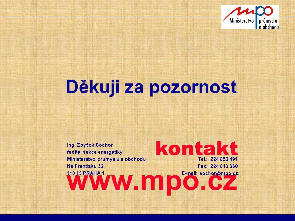 www.mpo.cz kontakt Děkuji za pozornost Ing. Zbyšek Sochor