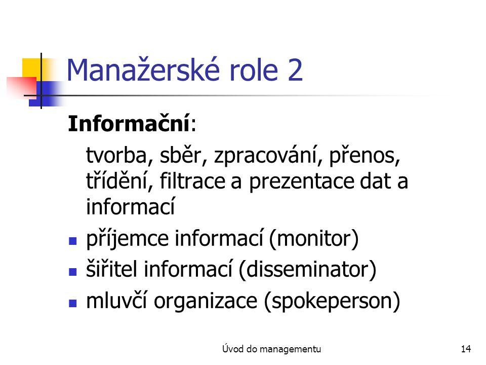 Manažerské role 2 Informační: