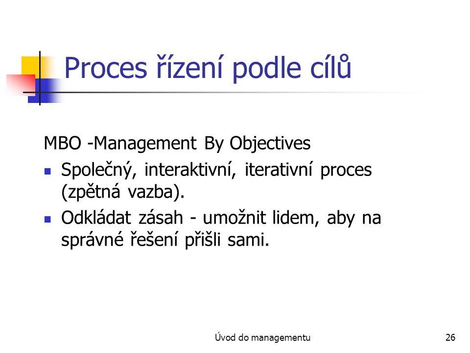 Proces řízení podle cílů