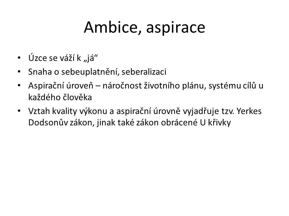 """Ambice, aspirace Úzce se váží k """"já"""