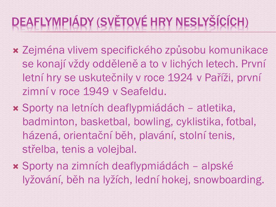 Deaflympiády (Světové hry neslyšících)