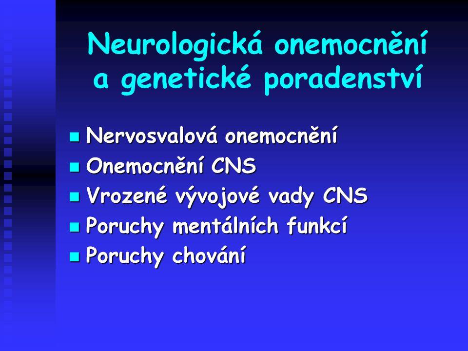 Neurologická onemocnění a genetické poradenství