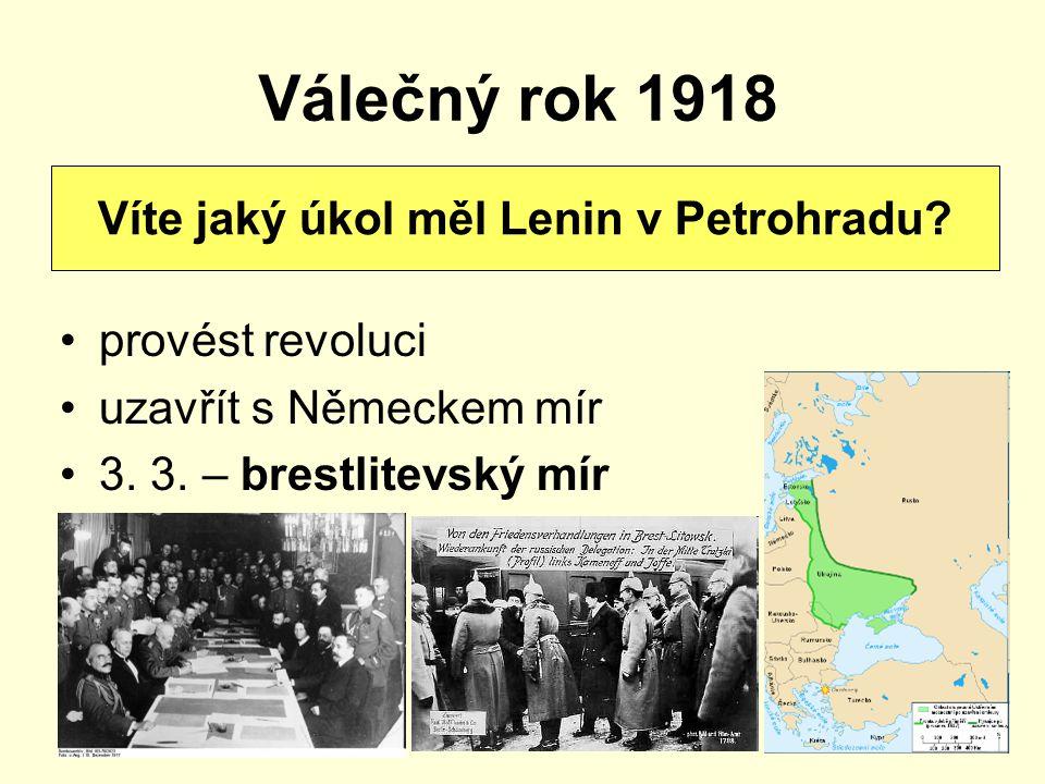 Víte jaký úkol měl Lenin v Petrohradu