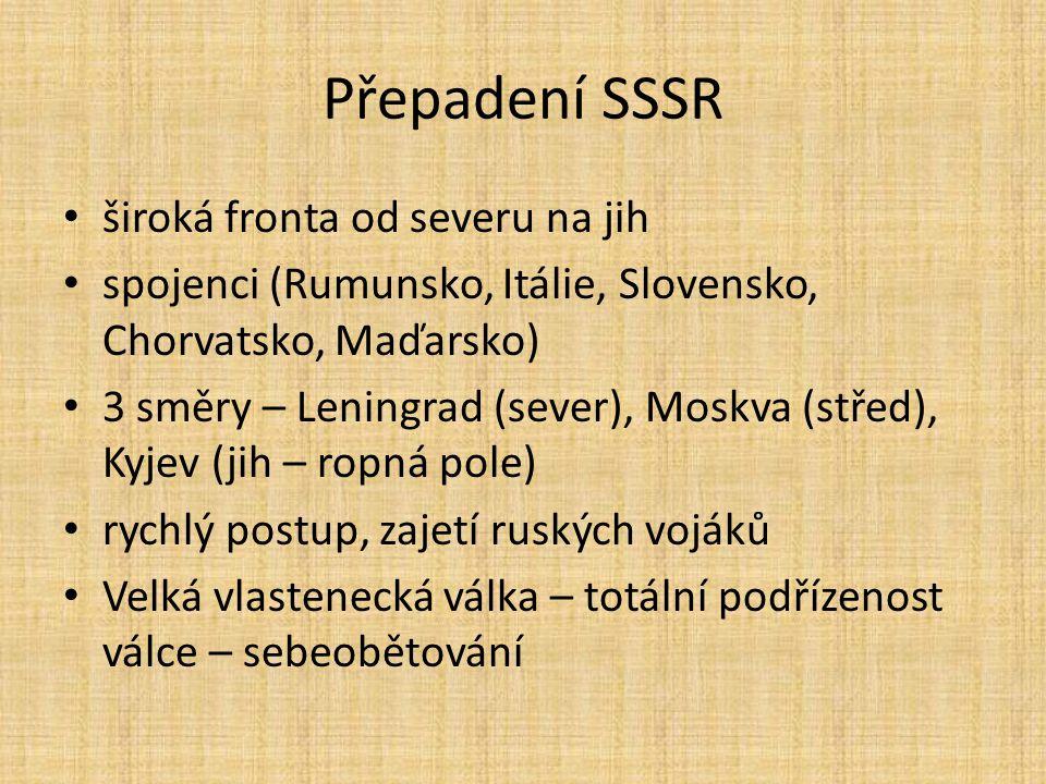 Přepadení SSSR široká fronta od severu na jih