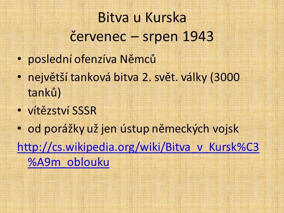 Bitva u Kurska červenec – srpen 1943