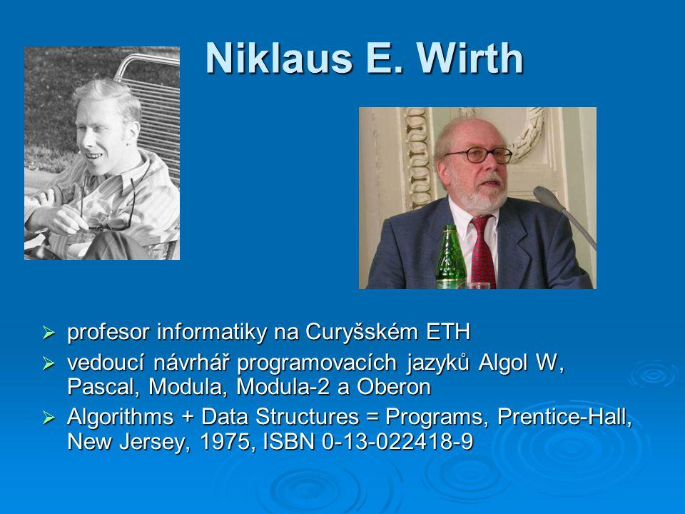Niklaus E. Wirth profesor informatiky na Curyšském ETH