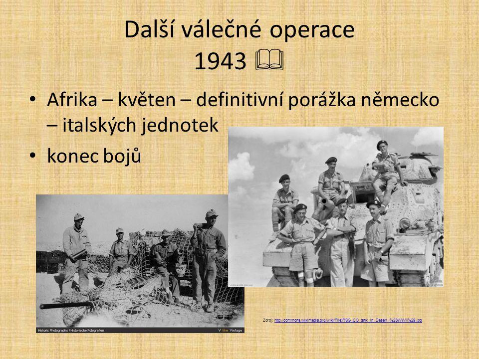 Další válečné operace 1943 