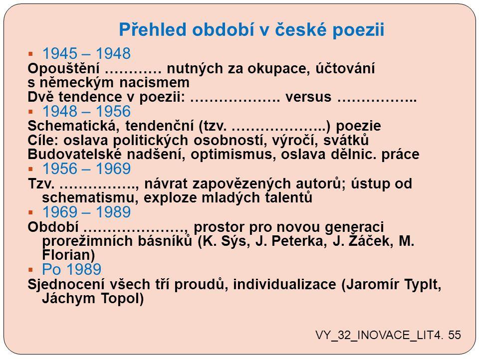 Přehled období v české poezii