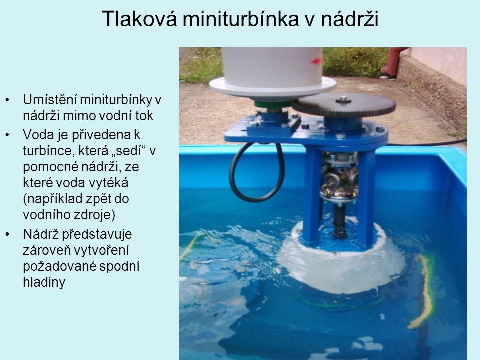 Tlaková miniturbínka v nádrži