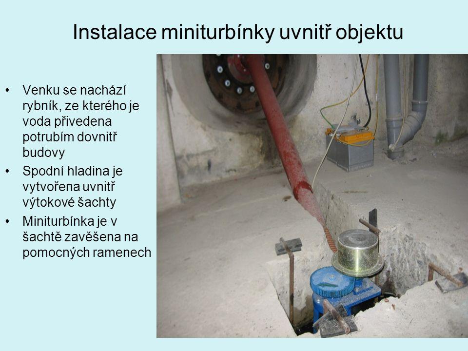 Instalace miniturbínky uvnitř objektu