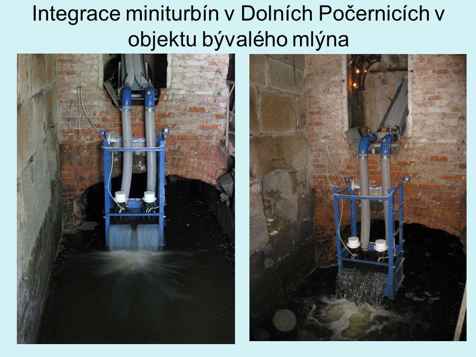 Integrace miniturbín v Dolních Počernicích v objektu bývalého mlýna