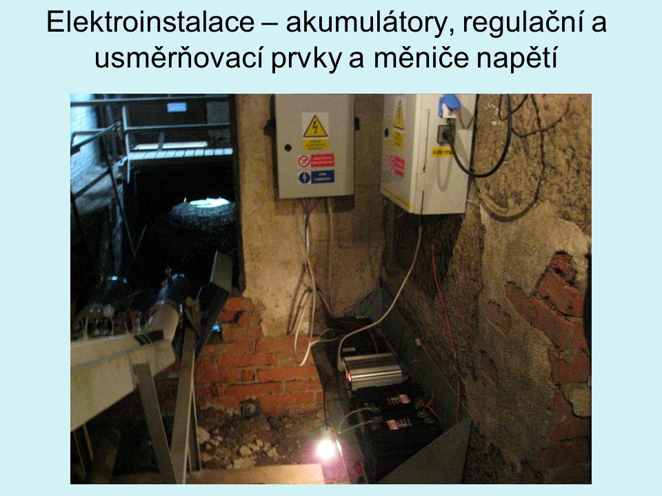 Elektroinstalace – akumulátory, regulační a usměrňovací prvky a měniče napětí