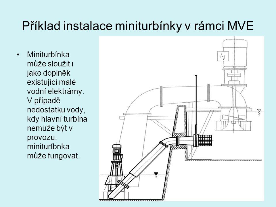 Příklad instalace miniturbínky v rámci MVE