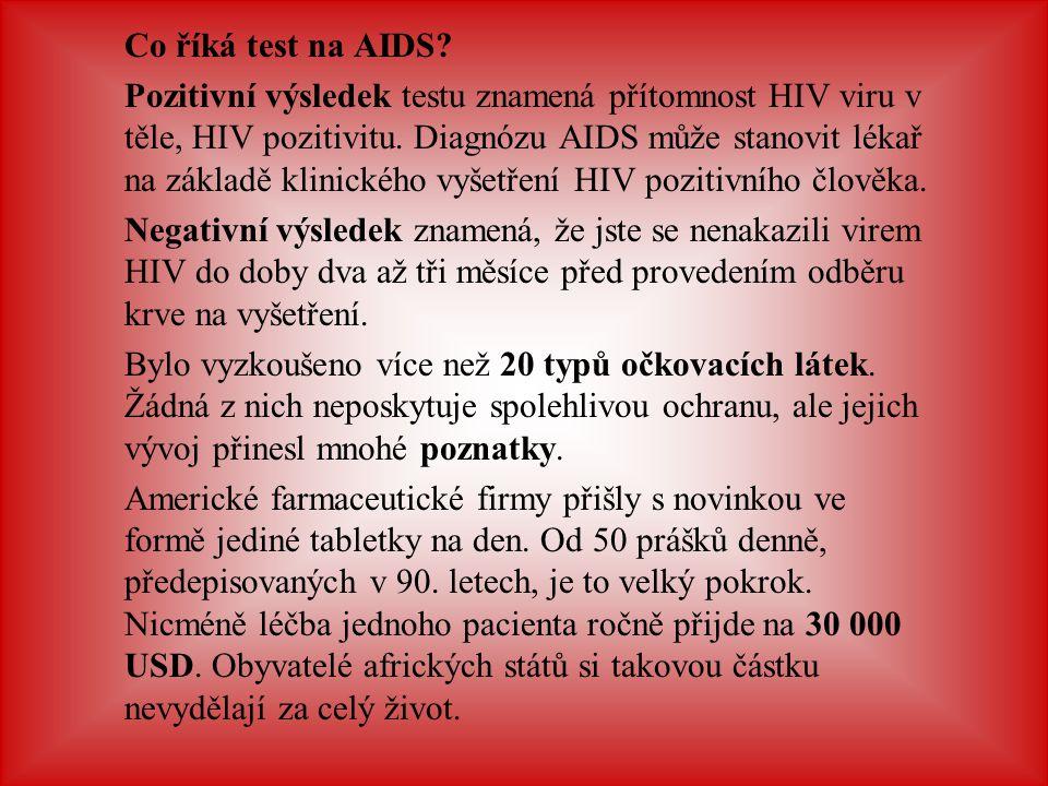 Co říká test na AIDS