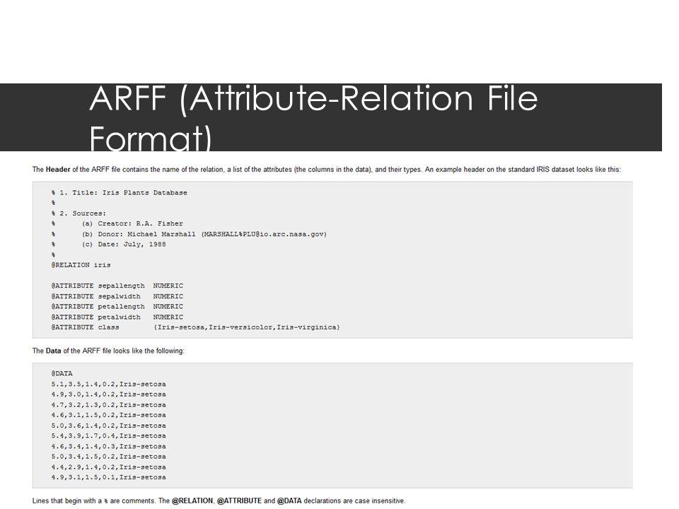 ARFF (Attribute-Relation File Format)