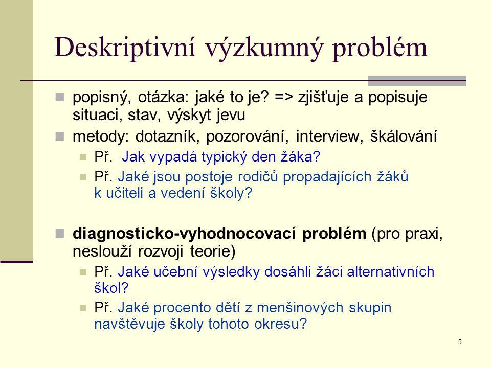 Deskriptivní výzkumný problém
