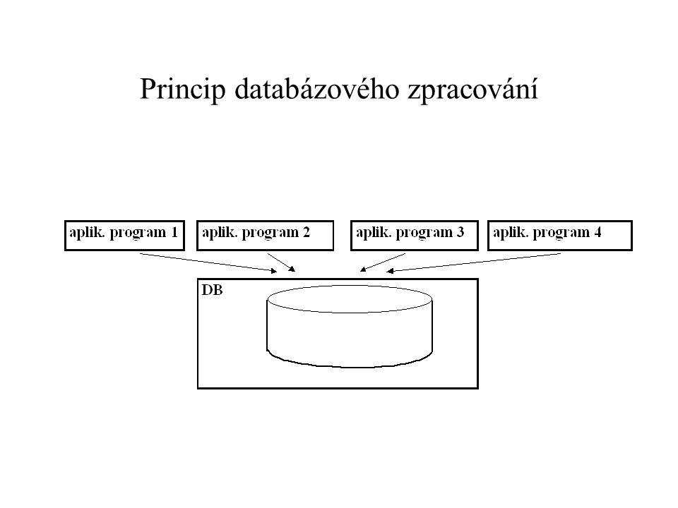 Princip databázového zpracování