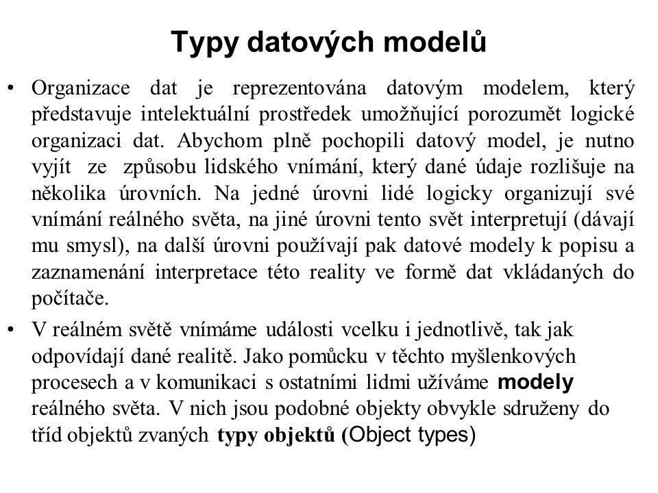 Typy datových modelů