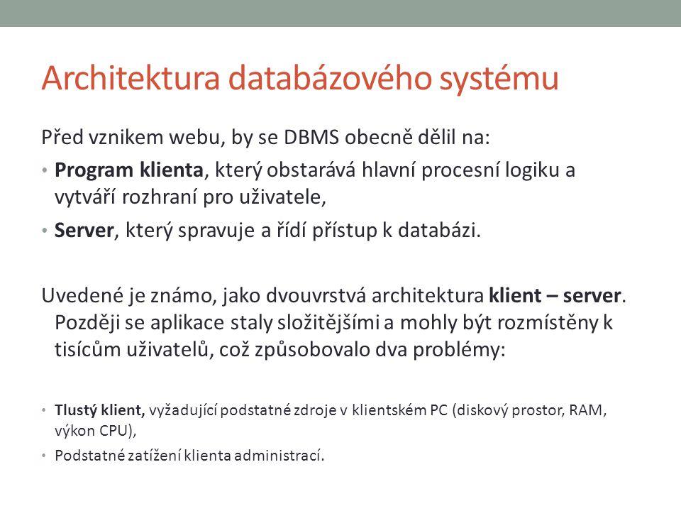 Architektura databázového systému
