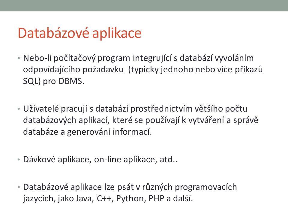 Databázové aplikace