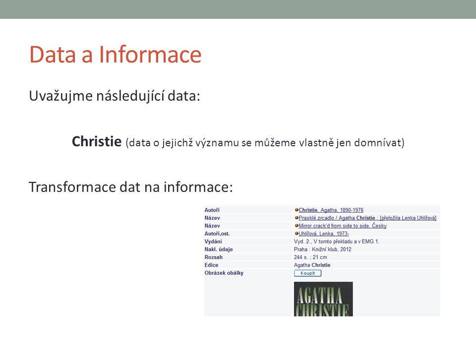 Christie (data o jejichž významu se můžeme vlastně jen domnívat)