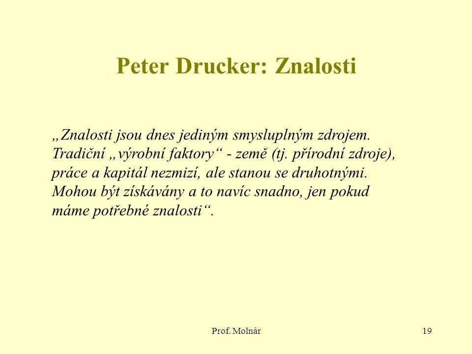 Peter Drucker: Znalosti