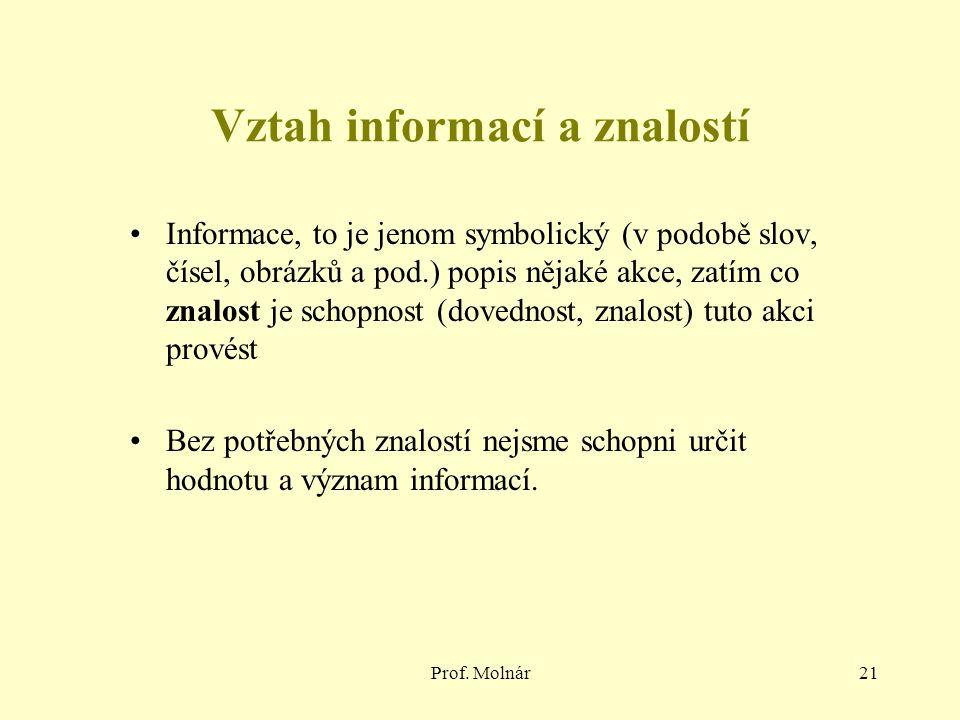Vztah informací a znalostí