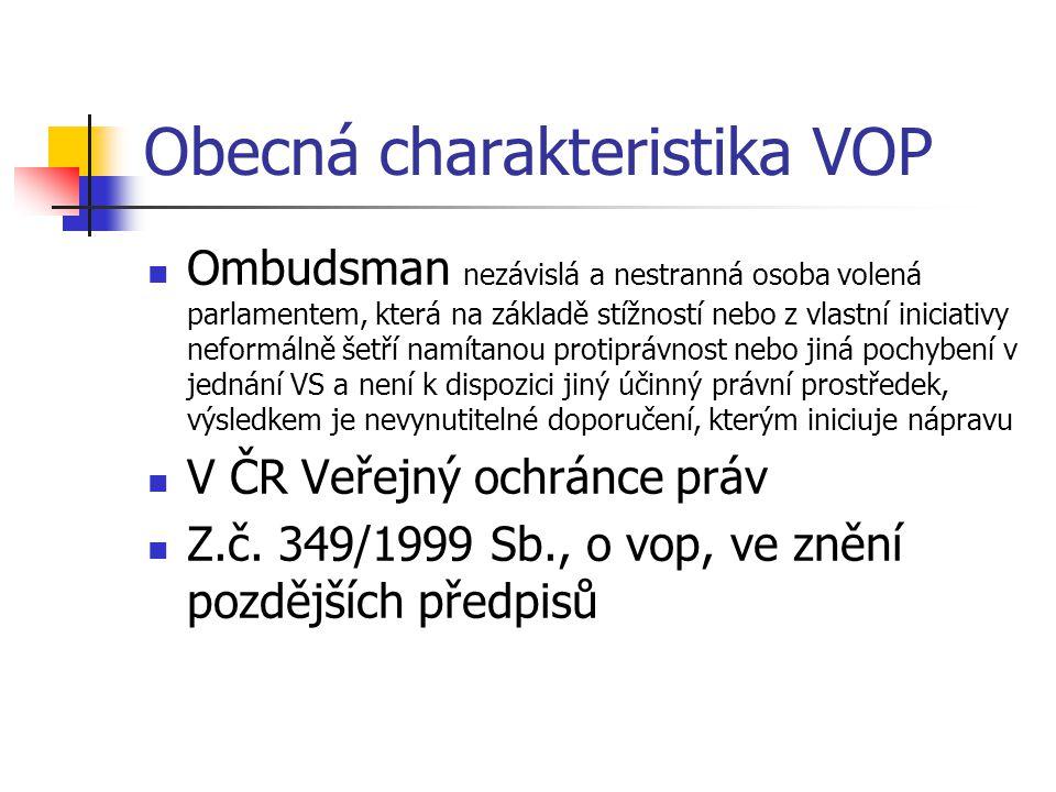 Obecná charakteristika VOP
