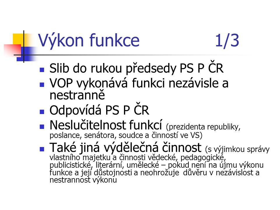 Výkon funkce 1/3 Slib do rukou předsedy PS P ČR