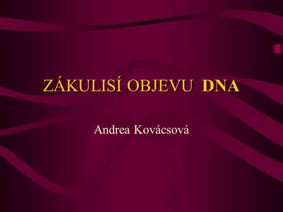 ZÁKULISÍ OBJEVU DNA Andrea Kovácsová