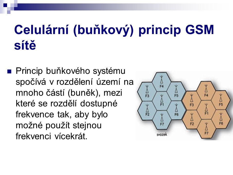 Celulární (buňkový) princip GSM sítě