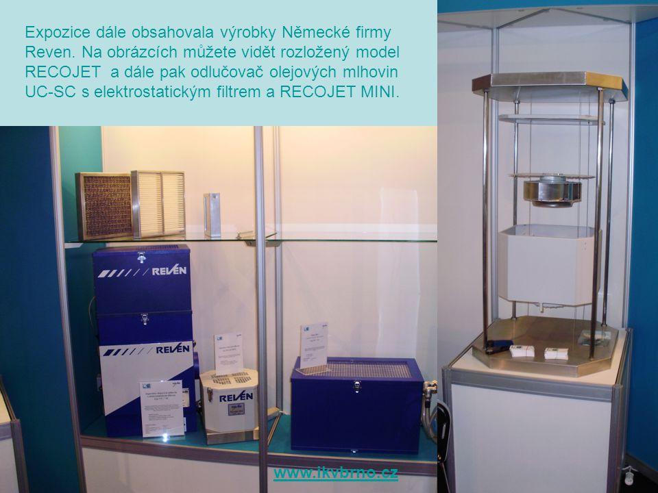 Expozice dále obsahovala výrobky Německé firmy