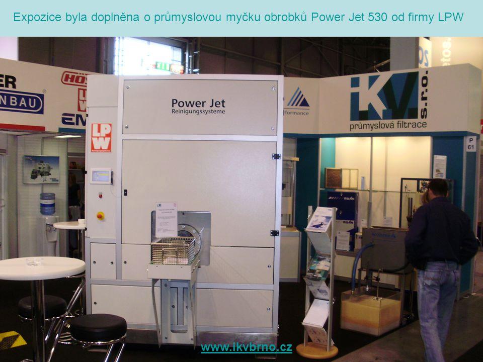 Expozice byla doplněna o průmyslovou myčku obrobků Power Jet 530 od firmy LPW