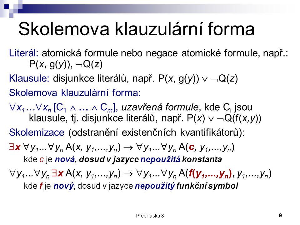 Skolemova klauzulární forma