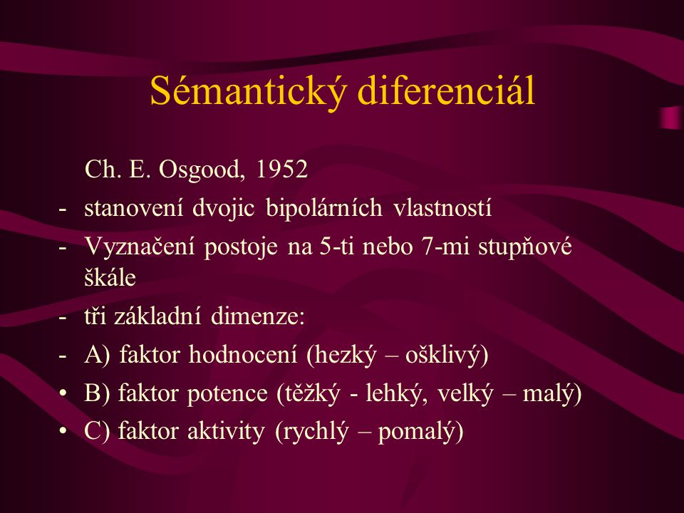 Sémantický diferenciál