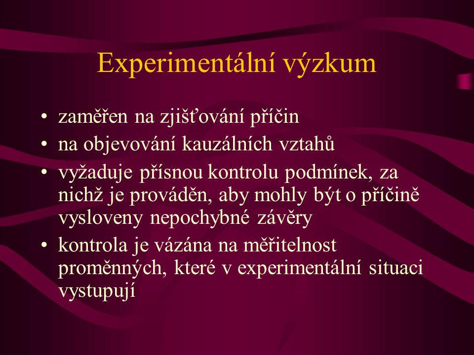 Experimentální výzkum