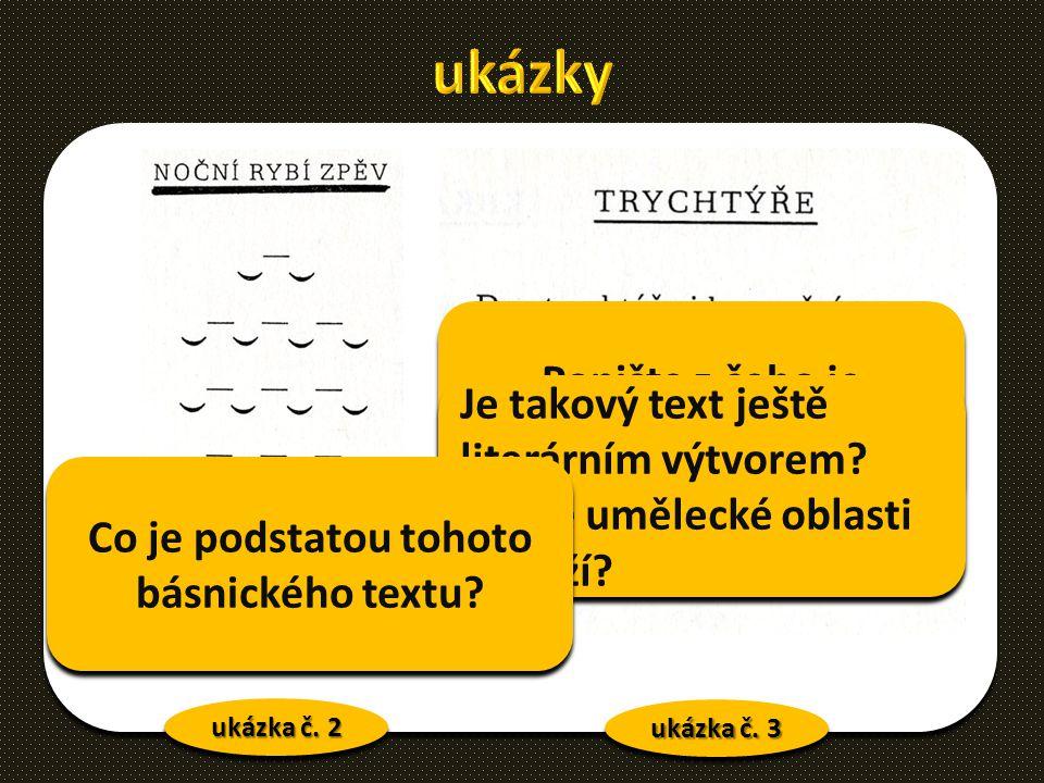 ukázky Popište z čeho je básnický text vytvořen.