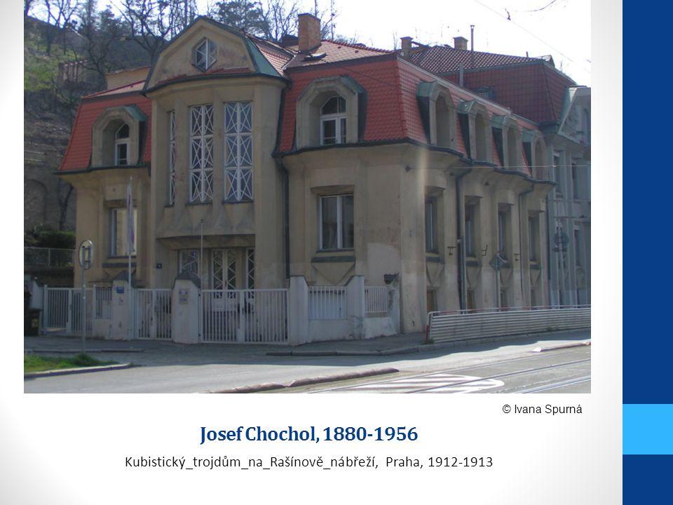 Kubistický_trojdům_na_Rašínově_nábřeží, Praha, 1912-1913