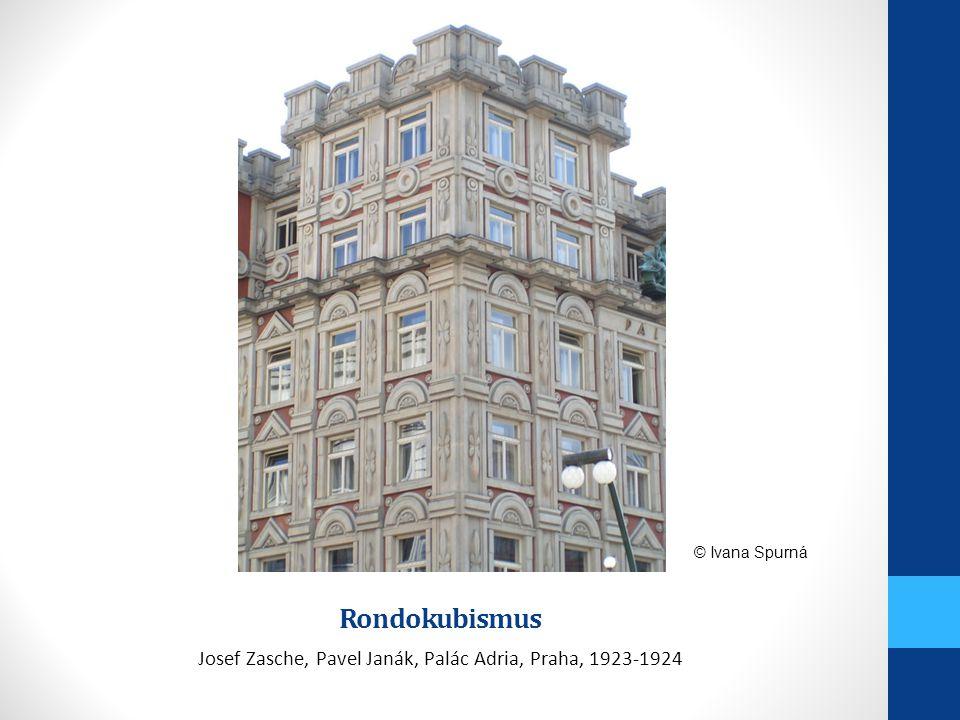Josef Zasche, Pavel Janák, Palác Adria, Praha, 1923-1924