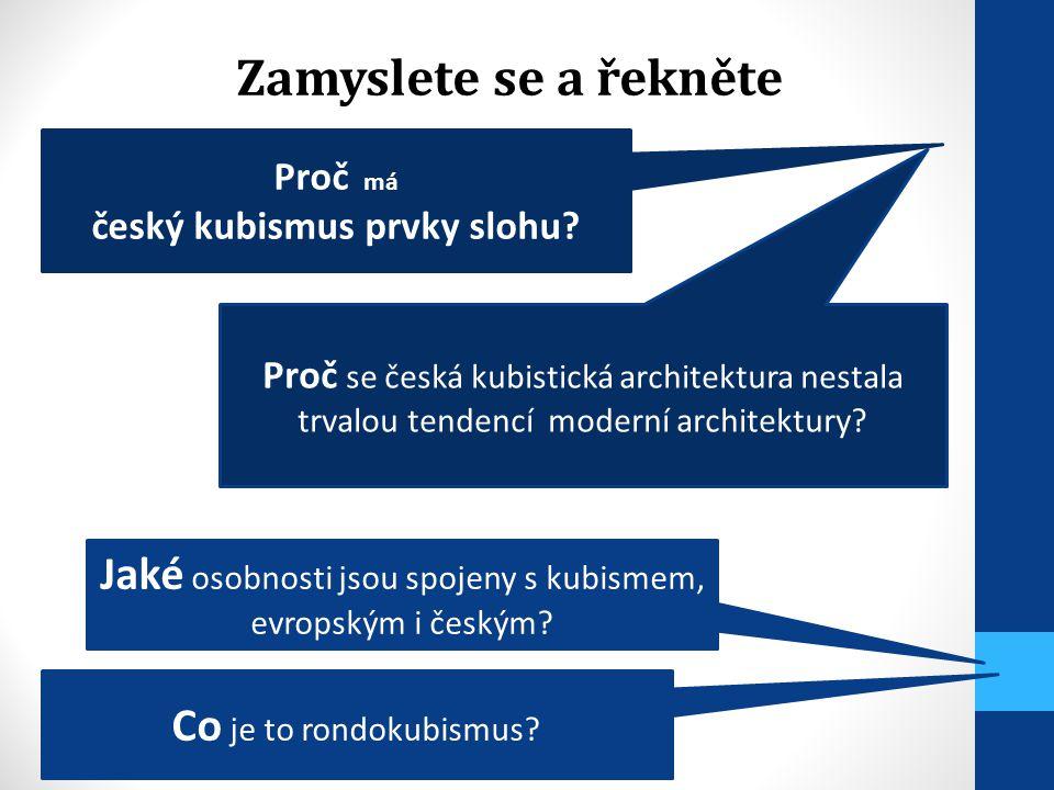 český kubismus prvky slohu