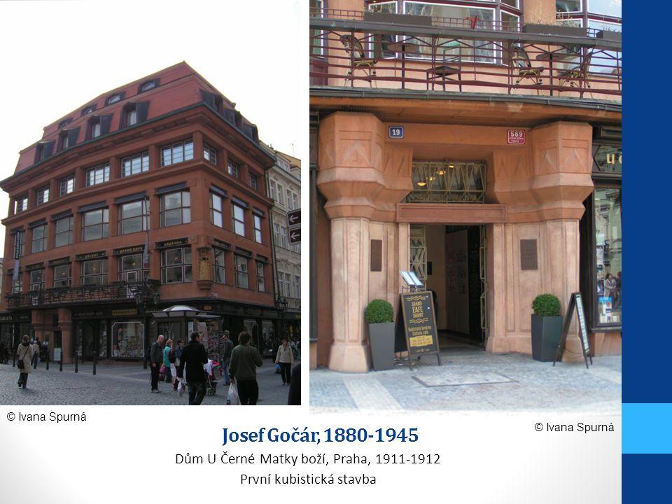 Josef Gočár, 1880-1945 Dům U Černé Matky boží, Praha, 1911-1912