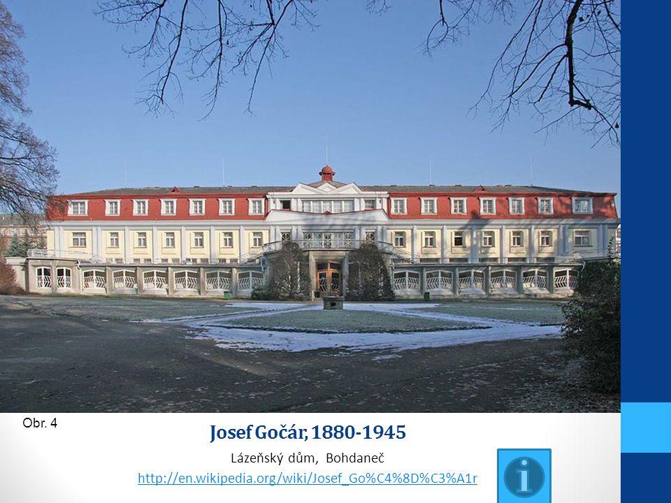 Josef Gočár, 1880-1945 Lázeňský dům, Bohdaneč